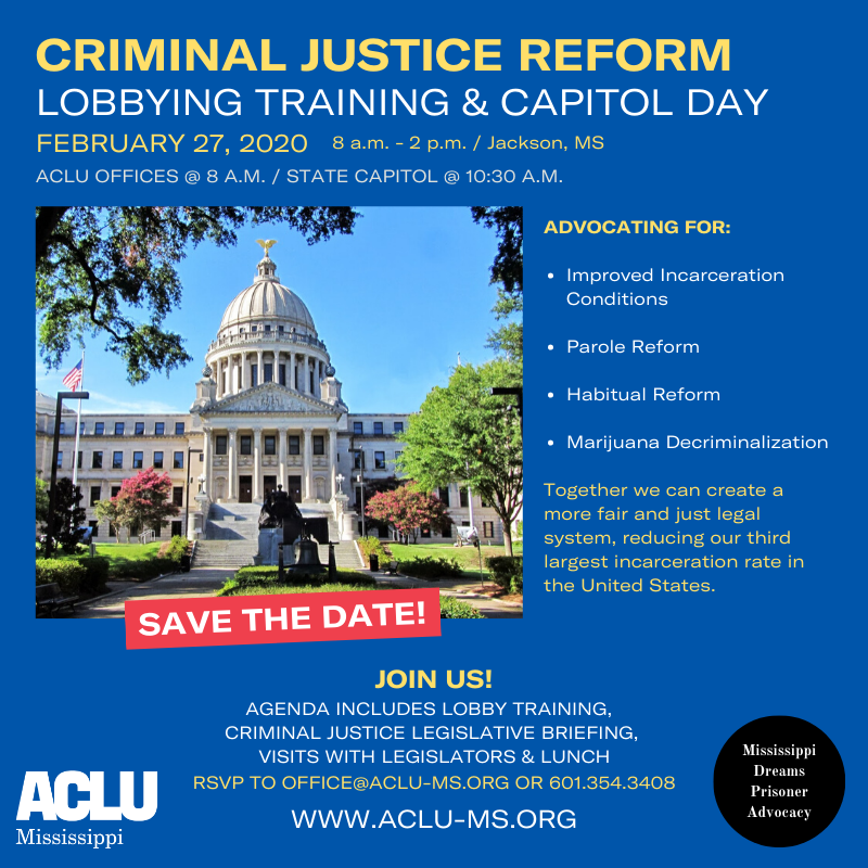 criminal justice reform day flyer