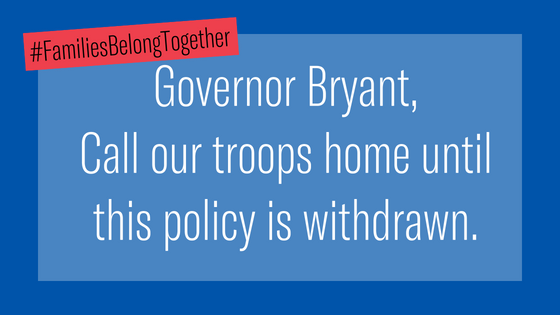 Bryant Bring Troops Home from Border