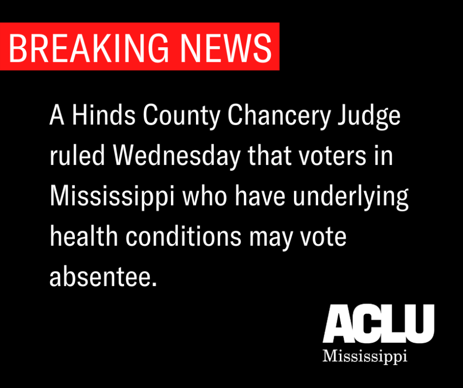 BREAKING NEWS, Ruling on Absentee Voting Lawsuit