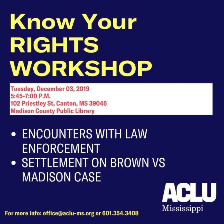 Know Your Rights Workshp
