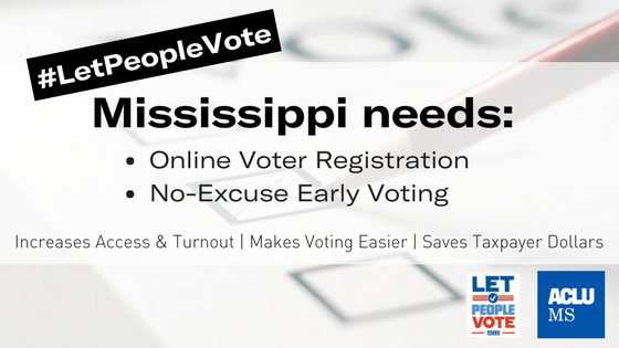 Let People Vote with Early Voting & Online Voter Registration