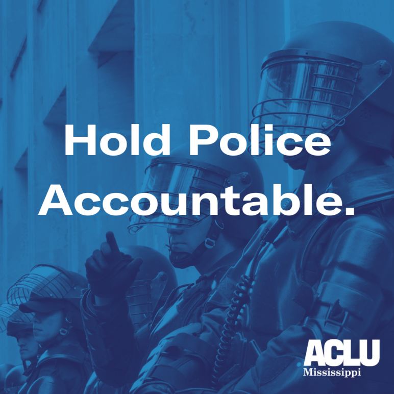 Hold Police Accountable.
