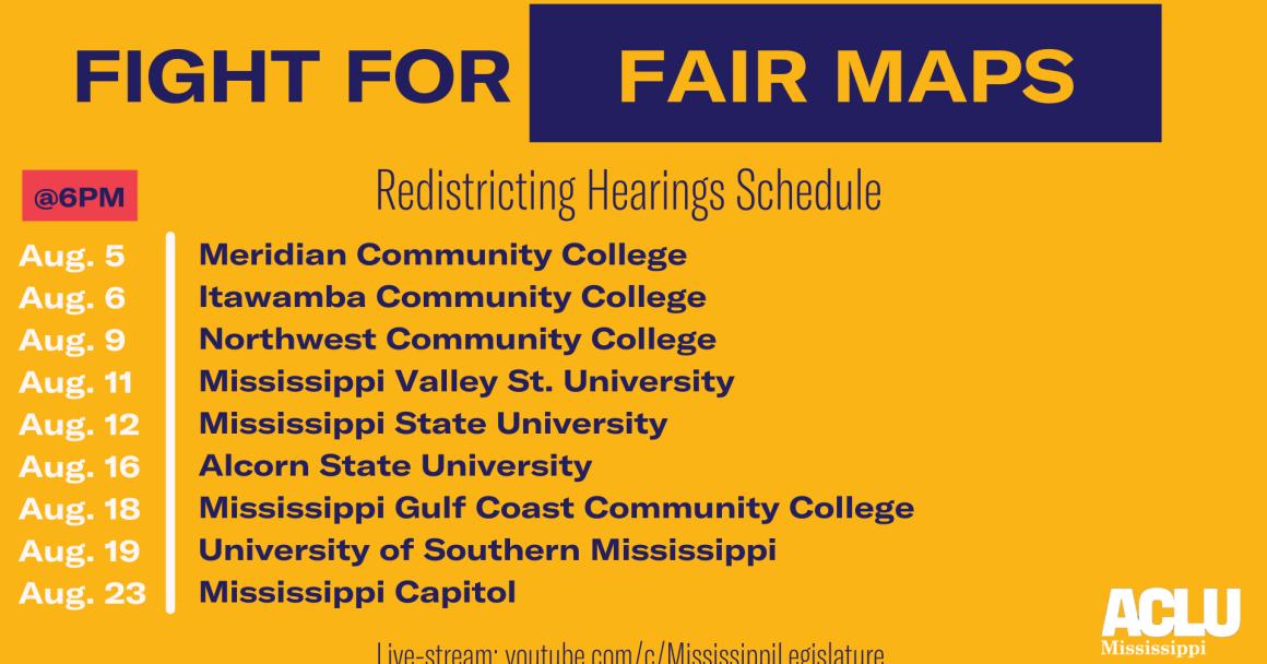 Redistricting Hearings